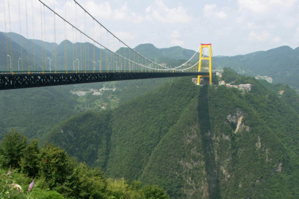 Siduhe River Bridge in Hubei, China