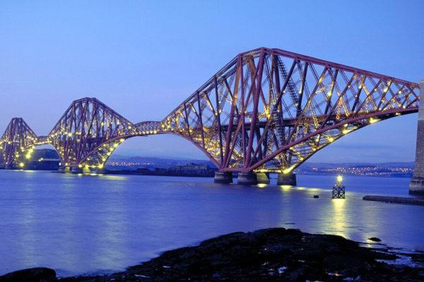 Forth Bridge in Edinburgh, Scotland