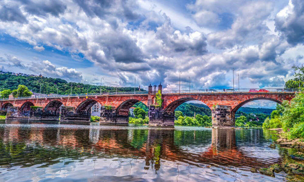 The Roman Bridge in Trier, Germany